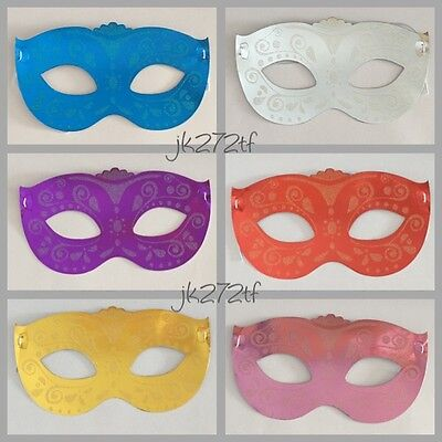 6pc MASQUERADE MASKS Themed Party Kids Adults Birthday Costume Fancy Dress