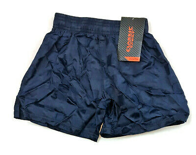 Youth Classic Sport Checkered Nylon Shorts, Military Blue, Size XXS 4/5, NEW