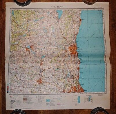 Authentic Soviet USSR Army Military Topographic Map Milwaukee, Wisconsin USA