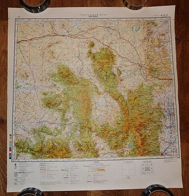 Authentic Soviet USSR Army Military Topographic Map Boulder, Colorado USA #14