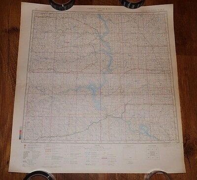 Authentic Soviet USSR Army Military Topographic Map Pierre, South Dakota USA #90