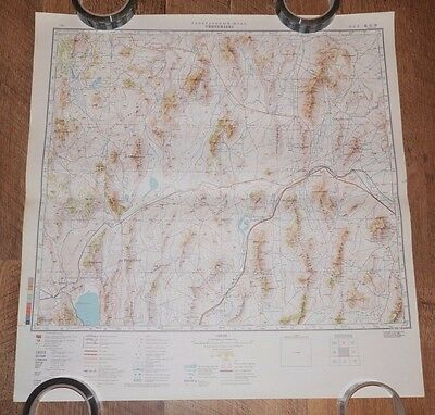 Authentic Soviet USSR Army Military Topographic Map Winnemucca, Nevada, USA #06