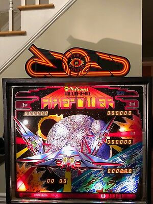 Awesome Firepower pinball Topper. CPR reproduction Firepower Topper plastic