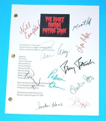 The Rocky Horror Picture Show Movie Script Tim Curry, Susan Sarandon & Meat Loaf