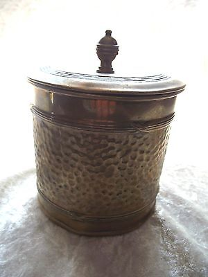 Vintage Edwardian Brass Tobacco Tin Container