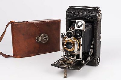 Nº3 Folding Pocket Kodak  E-3 + Bausch & Lomb+ 120mm C.P. Goertz READ DESCRIPTIO
