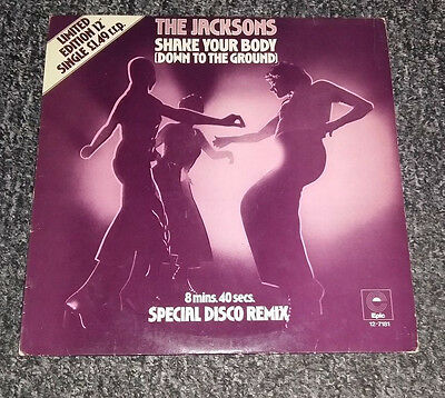 "The Jacksons ‎– Shake Your Body (Down To The Ground) 12"" single vinyl Record"