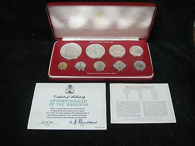 1977 Commonwealth of the Bahamas 9 Coin Proof Set
