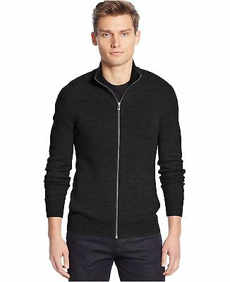 NWT Men's Calvin Klein Jeans Full Zip Ribbed Sweater FREE SHIPPING