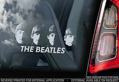 The Beatles - Car Window Sticker - Rock Pop Band Sign Art Gift Faces Decal - V02