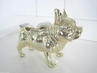 Gold French Bulldog Tape Dispenser Frenchie Dog Lover Rescue Father Mother Day