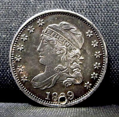 1829 Capped Bust Half Dime ✪ Xf Extra Fine ✪ H10C Holed Hole L@@k Now ◢Trusted◣