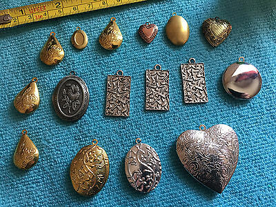 Mixed Lockets - lot of 15 pieces