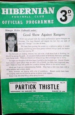 Hibs V Partick 10/1/1962 Scottish Cup