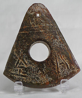 Ancient Chinese Jade Axe Imortality Heaven Amulet w/Characters & Translation!
