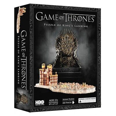 Game Of Thrones Kings Landing 3D Jigsaw Puzzle - 4D Cityscape - Brand New Sealed