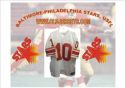 Baltimore-Philadelphia Stars USFL Replica Football Jersey White
