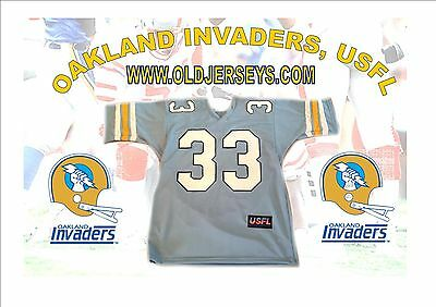 OAKLAND INVADERS USFL Replica Football Jersey BLUE