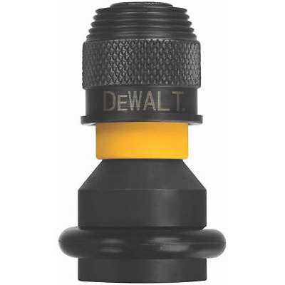 DEWALT DW2298 1/2-Inch Square Anvil to 1/4-Inch Hex Rapid Load Adapter