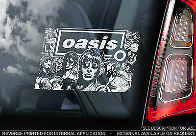 Oasis - Car Window Sticker - Indie Rock Britpop Music - Liam Noel Gallagher Sign