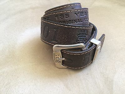 """""""135 Years""""  BROWN LEATHER LEVI'S 501 BELT"""
