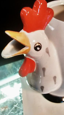 French ART DECO Coq Rouge Signed Rooster Chicken Coffee Pot PRE HOLT HOWARD