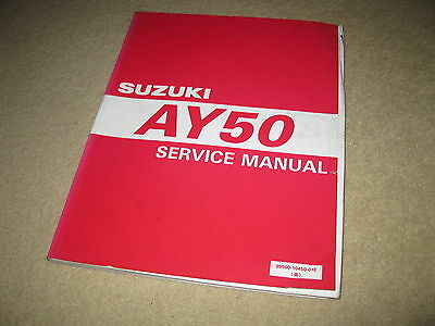 Genuine OEM Suzuki Motorcycle Workshop Service Manual - AY50