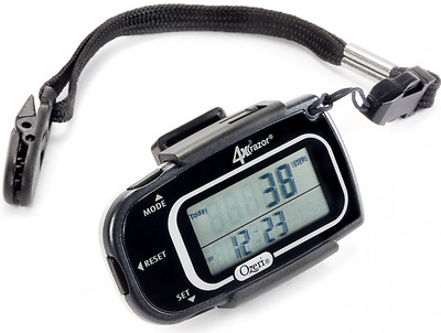 Ozeri 4x3razor Digital Pocket 3D Pedometer with Bosch Tri-Axis Technology from G