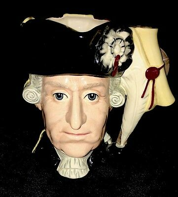 Royal Doulton Character Jug Antagonists Collection George III & Washington D6749