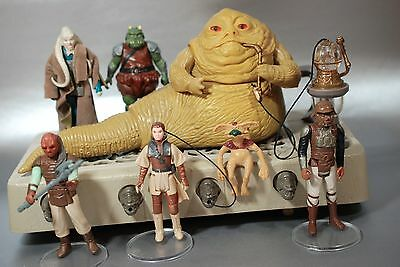 Vintage Star Wars Complete Jabba The Hutt Playset + 8 Action Figures Kenner