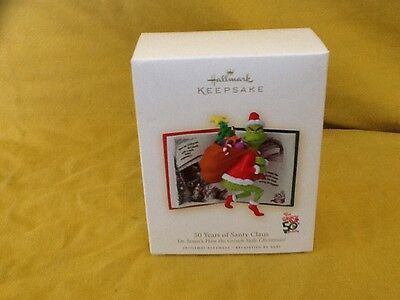 * 2007 *  GRINCH 50 YEARS OF SANTY CLAUS  Hallmark Ornament DR SEUSS      S