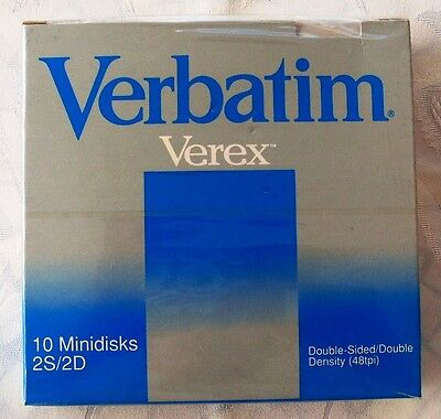 "Lotto Job Lot 40 VERBATIM Verex Floppy Disk 5 1/4"" 2S 2D Double Sided Density"