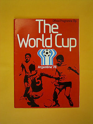 1978 Official World Cup Finals Programme. - Argentina 1978 - 1st - 25th June