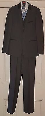 Next Formal Charcoal Grey 3 Piece Suit & Shirt - Age 11 - 12