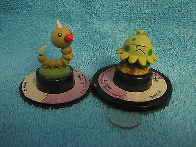 2 Pokemon-Figuren Next Quest:Hornliu(Weedle) und Knilz (Shroomish),Figure,