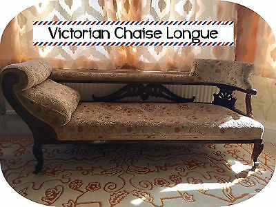 Victorian Chaise Longue/ Sofa/ Daybed