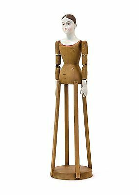 """30"""" Tall Reproduction of Vintage Santos Cage Doll Religious Home Decor Golden"""