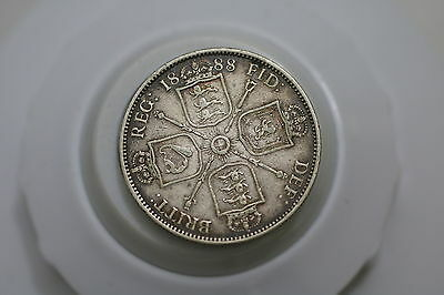 Uk Gb Florin 1888 Silver Victoria Nice Details A67 #4202