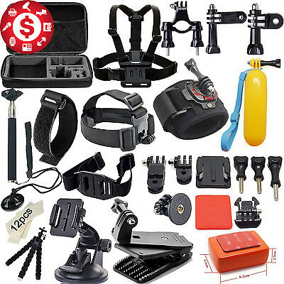 46 In 1 Accessory GoPro HERO 5 4 3+ 3 2 1 Adjustable Bundle Combo Set CAMP kit