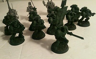 warhammer 40k space marines tactical squad w/  librarian +