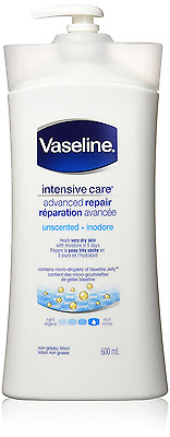 Vaseline Intensive Care Advanced Repair Unscented Lotion 600mL
