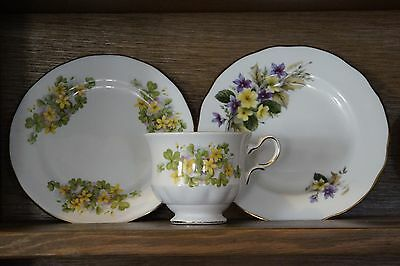 Duchess side plate and Queen Anne Bone China England floral side plate and cup