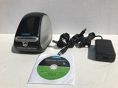 Dymo Labelwriter 450 Turbo 1750283 Software Disc Cables And Labels