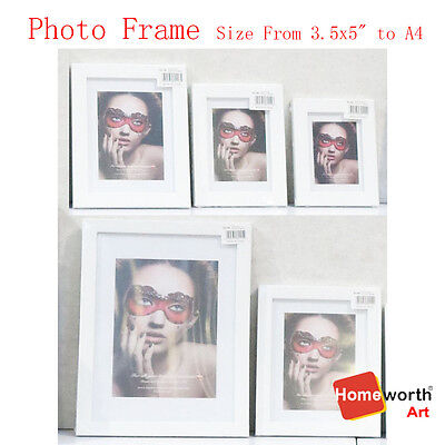 """Photo Frame Picture Decor Sizes From 3.5x5"""" to 16x20"""" White Black Silver Timber"""