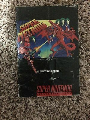 Super Metroid Snes Manual Only
