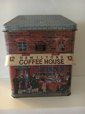 Hamiltons Coffee House Collectors Tin The Silver Crane Company Empty Excellent