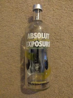Absolut Vodka Limited Edition Exposure! Beautiful Bottle Perfect 1 Liter Size