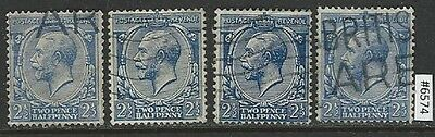 #6574 GREAT BRITAIN UK Sc#163 Used King George V Lot of 4 Combine Shipping