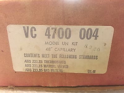 """Robertshaw Uni-line  - 4700-004 - UN and UNF Gas Oven Thermostat - 48"""" Cap.  NOS"""