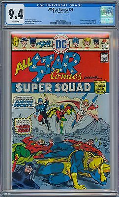 DC ALL STAR COMICS #58 - CGC 9.4 WP NM 1st POWER GIRL